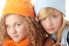 Beautiful Winter Girls Royalty Free Stock Photo