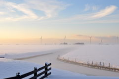 Beautiful winter in Holland. Winter in holland with a beautiful sky Stock Photography