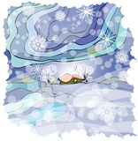 Beautiful winter illustration Stock Photo