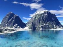 Beautiful winter lake Stock Images