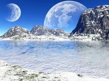 Beautiful winter lake Stock Photography