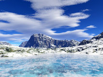 Beautiful Winter Lake Stock Photos