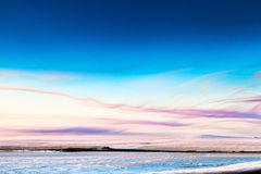 Beautiful winter landscape. With clouds in the sky Stock Photography