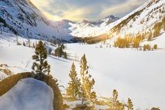 Beautiful winter landscape, Altai mountains,  Siberia, Russia. Stock Images