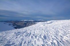 Ski resort Dragobrat in winter. Beautiful winter landscape. Carpathian mountains, Ukraine Royalty Free Stock Images