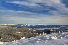 Ski resort Dragobrat in winter. Beautiful winter landscape. Carpathian mountains, Ukraine Royalty Free Stock Image