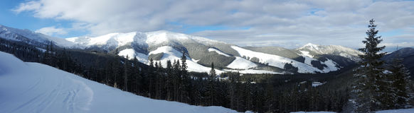 Beautiful winter landscape in carpathians Royalty Free Stock Photography