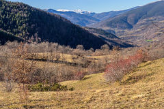 Beautiful winter landscape in the Catalan Pyrenees Royalty Free Stock Photos
