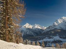 Beautiful winter landscape in the Engadine Royalty Free Stock Photography