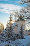 Winter in european village. New Year, Christmas Stock Image