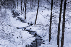 A beautiful winter landscape in nordic Europe Stock Photo