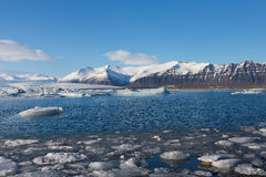 Beautiful winter landscape over Jokulsarlon lake Royalty Free Stock Photos