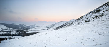 Beautiful Winter landscape over snow covered Winter countryside Stock Photography