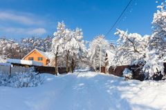 Beautiful winter landscape Stock Photos