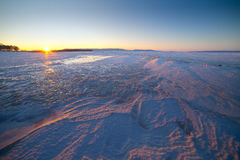 Beautiful winter landscape of sunrise Royalty Free Stock Photo