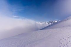 Beautiful winter landscape Tatra Mountains during inversion Stock Image