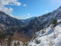 Beautiful winter landscape of totes gebirge mountains. In austria Royalty Free Stock Image