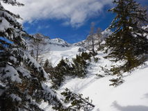Beautiful winter landscape of totes gebirge mountains. In austria Royalty Free Stock Photography