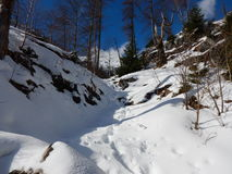 Beautiful winter landscape of totes gebirge mountains. In austria Stock Photo