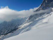 Beautiful winter landscape of totes gebirge mountains Royalty Free Stock Photography