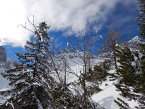 Beautiful winter landscape of totes gebirge mountains Royalty Free Stock Images