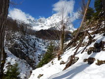 Beautiful winter landscape of totes gebirge mountains Royalty Free Stock Photos