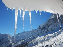 Beautiful winter landscape of totes gebirge mountains. In austria Stock Photos