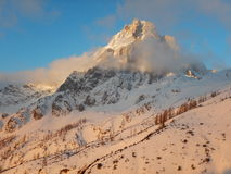 Beautiful winter landscape of totes gebirge mountains. In austria Stock Image