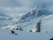 Beautiful winter landscape of totes gebirge mountains. In austria Stock Images