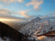 Beautiful winter landscape of totes gebirge mountains. In austria Royalty Free Stock Photos