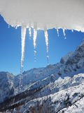 Beautiful winter landscape of totes gebirge mountains Stock Image