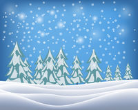 Beautiful winter landscape. Vector illustration Stock Images