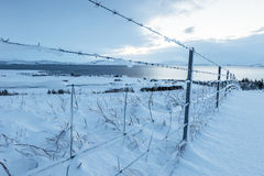 Beautiful winter landscape windy and covered snow in Iceland. Beautiful winter landscape, windy and covered snow with beautiful sky, cold frosty weather, beauty stock images