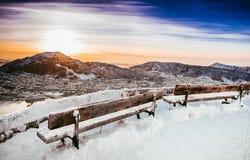 Beautiful winter landscape stock photos