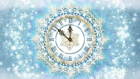 Christmas clock with gentle pattern stock footage