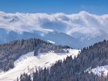 Beautiful winter morning in mountains. Beautiful winter morning in the mountains Royalty Free Stock Photos