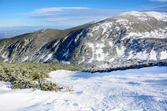 Beautiful Winter mountain landscape from Bulgaria.Borovets Stock Photo