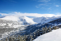 Beautiful Winter mountain landscape from Rila mountain , Bulgaria Stock Photos