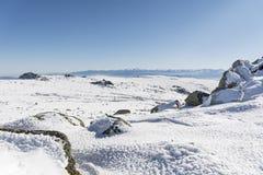 Beautiful Winter mountain landscape from Vitosha mountain in Bulgaria. Royalty Free Stock Photo