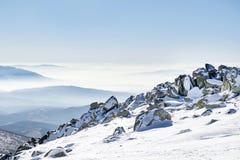 Beautiful Winter mountain landscape from Vitosha mountain in Bulgaria. Royalty Free Stock Photography