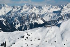 Beautiful Winter Mountain Panorama Stock Image