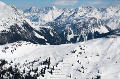 Beautiful Winter Mountain Panorama Royalty Free Stock Image