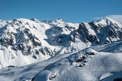 Beautiful Winter Mountain Panorama Stock Photography