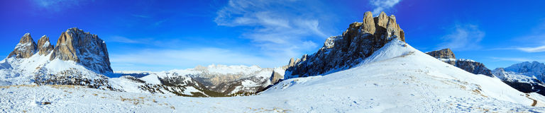 Beautiful winter mountain panorama . Royalty Free Stock Photography