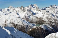 Beautiful winter mountains. European Alps Stock Image