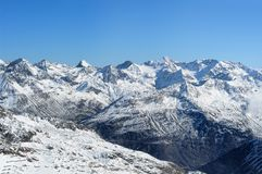 Beautiful winter mountains. European Alps Stock Photos