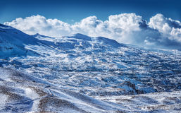 Beautiful winter mountains Royalty Free Stock Photos
