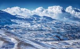 Beautiful winter mountains royalty free stock photos