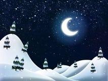 Beautiful winter night Stock Photos