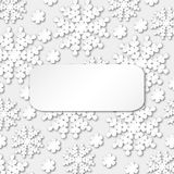 Beautiful winter ornament with snowflakes and place for your text. Stock Photography